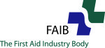 First Aid Industry Body (FAIB)  Certificate of Approval number  1179/92 (627)