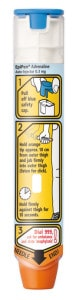 Photo of an Epi-pen auto-injector
