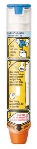 Photo of an Epi-pen auto-injector