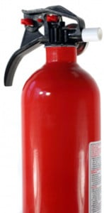 A Red Fire Extinguisher