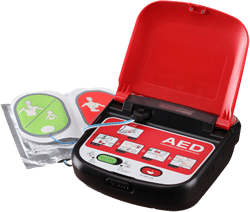 Mediana A15 AED showing pads