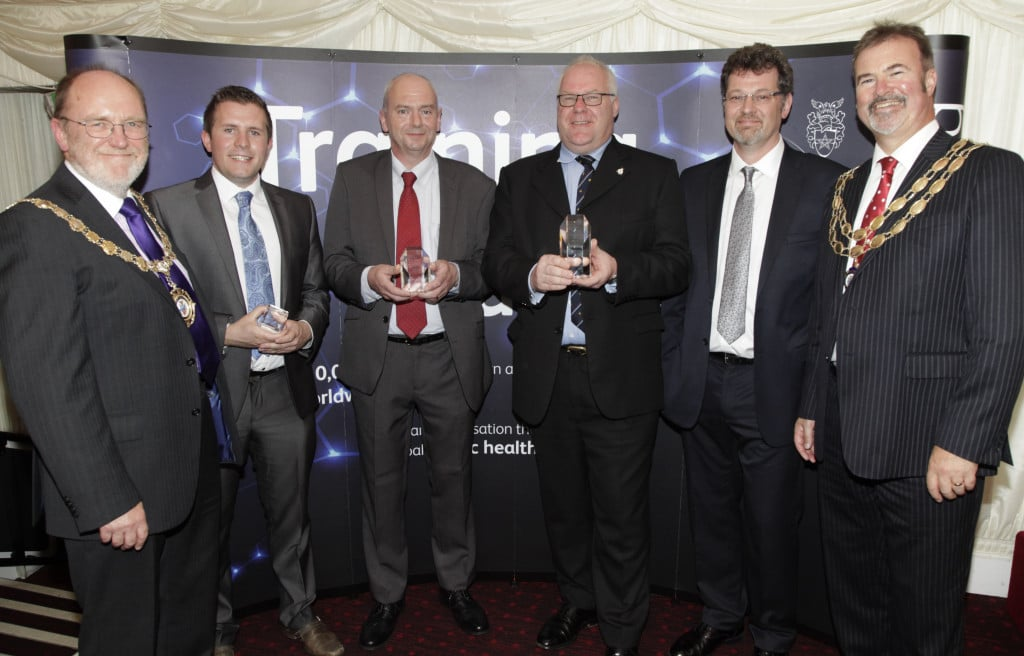 Paul Stedman and Stuart Fellows of Cognet Limited receiving the CIEH Best Centre Award