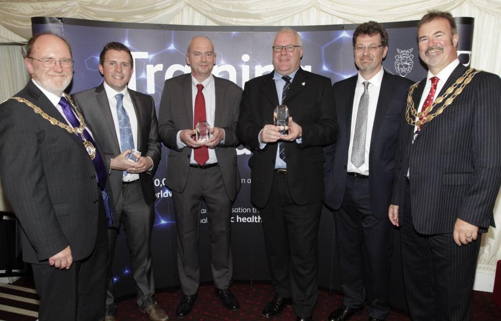 Paul Stedman and Stuart Fellows of Cognet Limited receiving the CIEH Best Centre Award